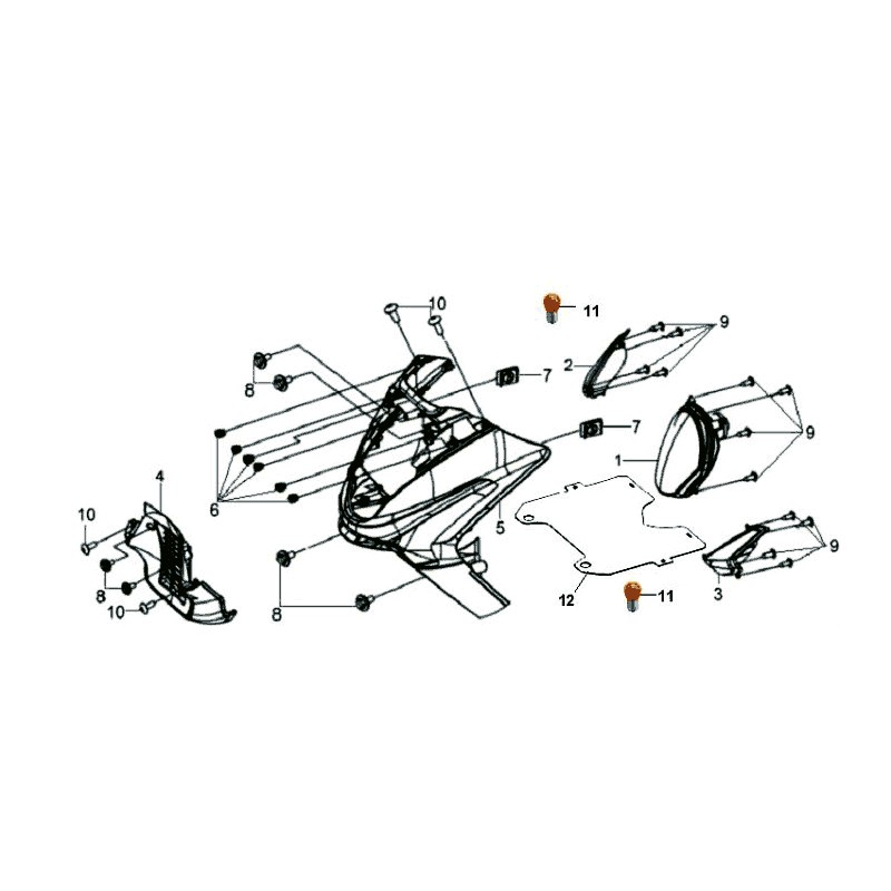 TABLIER AV GRIS GY-430S