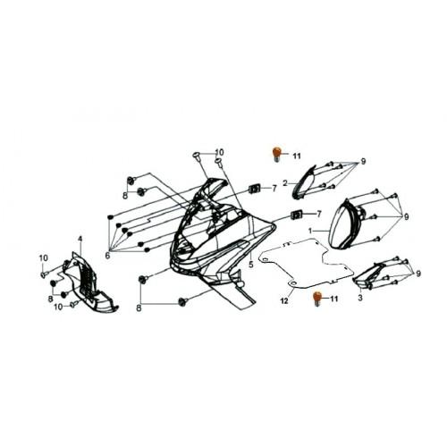 TABLIER AV INFERIEUR GRIS GY-430S