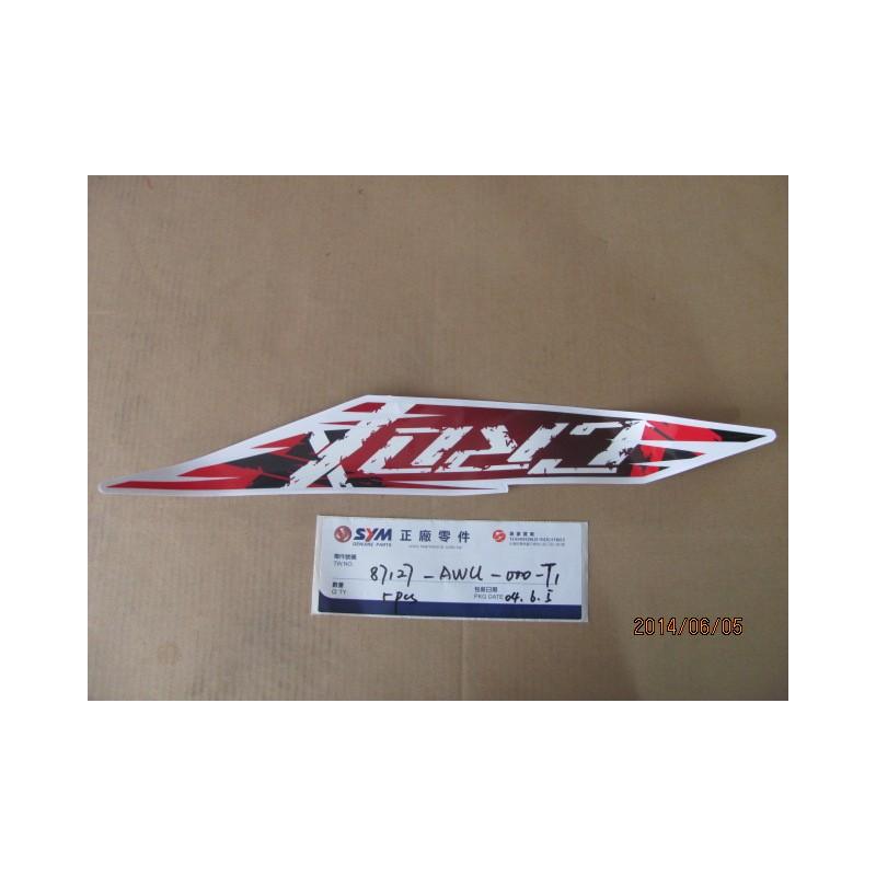 ADHESIF SUP FLANC D CROX/FOND ROUGE