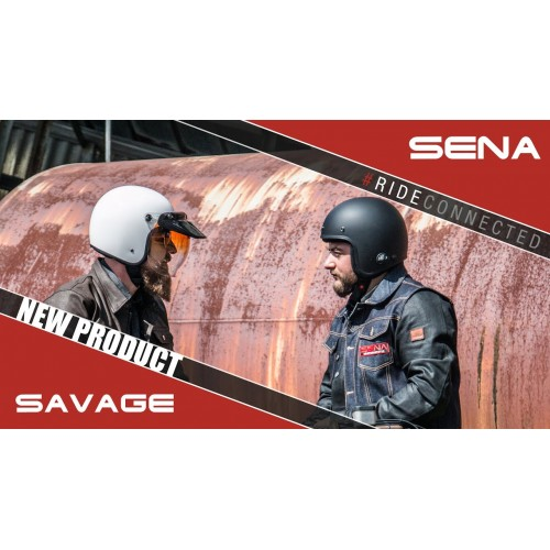 CASQUE SAVAGE SENA avec Intercom Bluetooth intégré TAILLE S